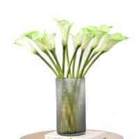 10 PC Simulation Small Calla Лилия PU искусственные цветы для домашних украшений аксессуары свадебные фона поддельных цветочных лилий