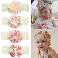 Hair Accessories Classic Vintage Floral Infant Bron Headband For Girls 0-6 Years Kids Elastic Hairbands Bandeau