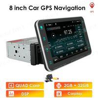 "Araba Multimedya Oyuncu Andriod GPS Navigasyon 2Din HD Autoradio USB FM 2 DIN 8 ""Ses Radyo Stereo Video 2G 32G ROM WIFI DAB + Araba DVD"