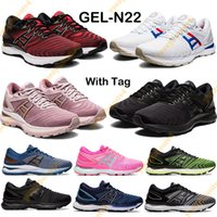 NUEVO GEL-N22 Hombres Mujeres Running Shoes Classic Triple Rojo Negro Tokyo Trainers Rose Gold Hot Pink Pure Silver Sport Sneakers con etiqueta