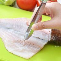 Fisch Knochen Pinzette Edelstahl flach und schrägen Pinzette Zange Remover Werkzeug Fleischentferner Hautzange Clip Kitchen Tools FWD5425