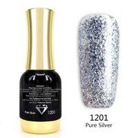 Venalisa Super Color Gel Verniz 12ml Diamante Brilhante Brilhante Glitter Starry Platinum Nail Esmalte Tempo duradouro Gel Polonês