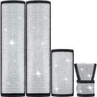 Safety Belts & Accessories Car Rhinestones Crystal Seat Belt Cover Shoulder Pads Shifter Gear Hand Brake Covers Automobile Interior