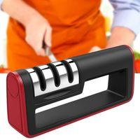 متعددة الوظائف المهنية سكين مبراة الماس سريع المهنية 3 مراحل مبراة سكين شحذ أدوات شحذ الحجر المطبخ
