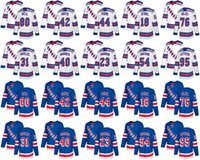 NEW YORK Rangers Hockey Jersey Mens 18 Marc Staal Brendan Smith Neal Pionk 80 Chris Nell 76 Brady Skjei Jerseys cousu Blanc Bleu