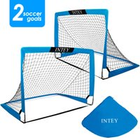 Intey Fussball Tore 4x3ft (Set von 2) Tragbare Fußballnetze mit Tragetasche für Spieltraining Kinder oder Jugendliche