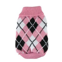 Cão vestuário leve animal de estimação quente camisola universal roupas moda macio vestuário alto colarinho confortável coatlight pinkl