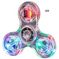 Светодиодный Hidget Spinner Finger Игрушка Светящиеся Красочные Дети Дети Для Декоментирования Игрушки для взрослых Руководства
