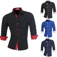 2020 Yeni Erkek Elbise Gömlek Çift Yaka Düğmesi Benzersiz Tasarım Slim Fit Marka Gömlek Erkek Gömlek