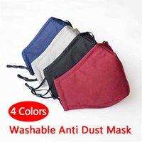Zmywalna tkanina bawełniana PM2.5 Anti Haze Maska Anti-Dust Face Dusproof Tkaniny włókniny Ciepłe Maski rowerowe dla dorosłych