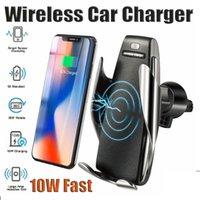 S5 serrage automatique du chargeur de voiture sans fil à 360 degrés Titulaire de téléphone de rotation de 360 degrés pour téléphones universels Android