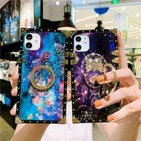 Blitter Bling Stars квадратный чехол для телефона для iPhone 11PRO Case XS MAX XR 6 7 8 плюс 12 роскошные мечты неба с кольцом держателя мягкой крышки