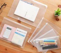 Fichier de papier à glissière en plastique imperméable Livre de dossier Crayon Case Sac Files Sac de documents pour Office Student Fournitures pour A4 A5 A6 B5 SN2439