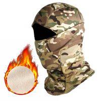 Cycling Caps & Masks Winter Tactical Balaclava Full Face Bandana Cap Outdoor Sports Camping Hunting Ski Camouflage Neck Warmer Scarf Men