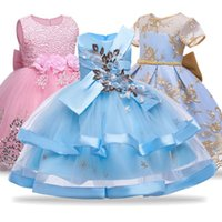 Girl's Dresses Flower Girls Dress For Wedding And Party Children Costume Kids Princess Vestido 4 5 6 7 8 10 Year