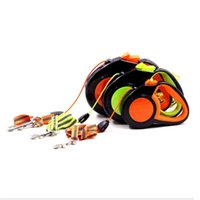 Dog Apparel Pet Traction Rope Automatic Retractable Reflective Luminous Night Small And Medium-sized Outdoor Tractor