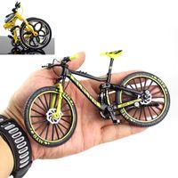 Mini 1:10 alliage vélo matrice modèle de voiture métal doigt vélo de montagne vélo de course piste pliant routier simulation collection jouets pour enfants