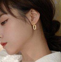 Hoop & Huggie 925 Sterling Silver Luxury Zircon Geometric Oval Earring For Women Simple Metal Style Detachable S-E1412