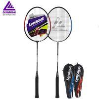 1 Çift Dayanıklı Badminton Raket Lenwave Marka Spor Eğitim Raket Erkekler Kadınlar için Sıcak Satış
