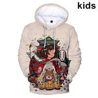 Erkek Hoodies Tişörtü 3 ila 14 Yıl Çocuklar Anime Spirited Away 3D Eşofman Kazak Erkek Kız Kawaii Karikatür Ceket Genç Çocuk Cl
