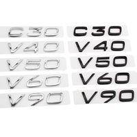 Noir / Silver ABS Autocollant arrière pour Volvo V40 V50 V50 V90 C30 D4 D2 XC60 XC90 XC70 XC40 T4 T5 T6 Volvo Trunk Sticker
