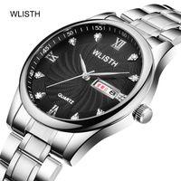 Armbanduhren WallSth Herrenuhr Wallace Explosion Modell Stahlband Wasserdichte Business Fashion Quartz