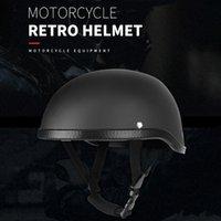 Motorcycle Helmets Half Helmet Retro Style Universal Washable One Size Black ABS Cotton Plastic Cap For Motorcyclist