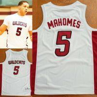Patrick Mahomes Whitehouse Lycée Jersey Basketball Jersey Mens Femmes Jeunes Numéro personnalisé Nom Jerseys XS-6XL