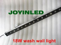 High-Power 18W 46 * 46 IP67 DC24V Wasserdichte Outdoor-LED-Flutlicht-LED-Wandwaschanlage-Lampe Landschaftswaschen Wandleuchte Warmweiß / RGB