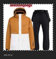 Skiing Suits Thick Warm Men Women Ski Suit Waterproof Windproof Snowboarding Jacket Pants Set Winter Snow Wear