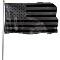 3x5Ft Black American Flag Polyester Kein Quartal erhält US USA Historische Schutzbanner-Flagge doppelseitig Indoor Outdoor HH21-81