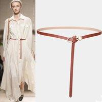 Belts Designer For Women High Quality Genuine Leather Thin Belt Knot Dress Ceinture Femme Long Waistband Cummerbunds Cinto