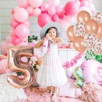 12 pçs / set feliz aniversário confete balões com fita folha balão balão bebê filhoso menino menina decoração de primeira festa