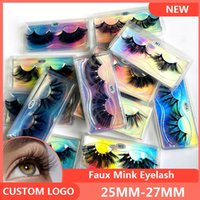8D Faux Mink False Cypelesh Natural Lungo spessore 25mm Falso Eye Laser Carrier Box Packaging Box
