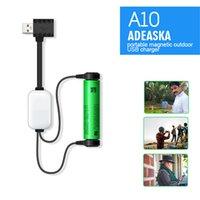 Adeaska A10 18650 pil şarj cihazı Li-ion piller için çok işlevli manyetik USB şarj cihazı mini şarj / boşaltma güç bankası