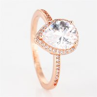 PJ006 Real 925 Sterling Silver Diamond RING Wedding Ring Gifts Engagement Jewelry for Women With Original Packing 457 Q2
