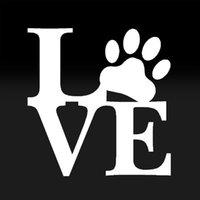 12.5 cm * 12.5 cm Aşk Paw Sticker Aile Araba Vinil Çıkartması Sevimli Hayvan Pet Köpek Kedi Duvar