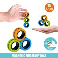 DHL Shipping! New 3PCs Fidget Spinner Creative Magnetic Bracelet Ring Unzip Toy Magic Ring Props Tools Anti Stress Toys Fidget Toys Stress Kids Fast Shipping 496