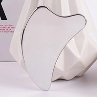 Dolphin Shape Stainless Steel Gua Sha Tool Face Lifting Massager Skin Cooling Body Neck Relaxation Pain Relief Health Beauty Guasha Board Massage