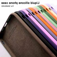 M3C Liquid Silicone Phone Case Samsung Galaxy A20 A21 A30 A31 A40 A41 A50 A51 A52 A70 A71 A72 4G 5G Soft protective cover
