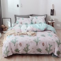 Bedding Sets 2021 Cotton Comfort 3 4 Pieces Spring Fresh Jungle Printed Duvet Cover+Bed Sheet+Pillowcases