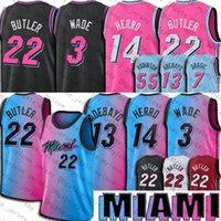 Miamis Jimmy Dwyane Butler Wade Jersey Tyler Goran Herro Dragic Jerseys Bam Kendrick Adebayo Nunn Jersey Robinson City Баскетбол Джерси