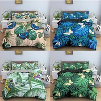 Bedding Sets Leaves Pattern Duvet Cover Soft Bed Linen Butterfly Bedclothes Twin Queen King Size For Kids Bedroom