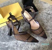 Zapatos de vestir de lujo tacones y sandalias de cuero artesanal italiano con una caja de tamaño35-41