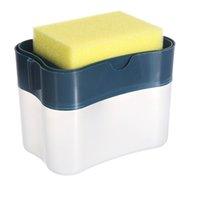 Sabun Pompası Sünger Sünger Tutucu Temizleme Sıvı Dispenserler Konteyner Manuel Basın Sabunlar Organizatör Mutfak Temizleyici Aracı HWE9318