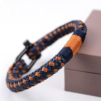 Charm Bracelets Outdoor Camping Emergency Bangles & Fashion Jewelry Handmade Colorful Braided Rope Bracelet For Men