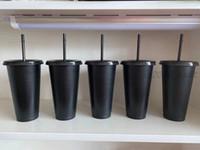 100 قطعة 24 أوقية من البلاستيك المشروبات عصير كوب وشت سحر كأس القهوة مخصص ستاربكس كأس بلاستيكية، يمكنك تخصيص الشعار