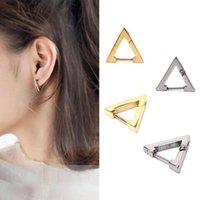Stud Stainless Steel Punk Gothic Triangle Hoop Earrings Men Women Ear Pierced Jewelry
