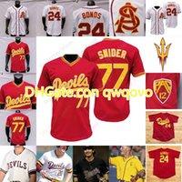 2020 Yeni ASU Arizona Devlet Beyzbol Forması Koleji Barry Bonds Reggie Jackson Reggie Jackson Torkelson Drew Swift Hauver Jump Cheema La Flam
