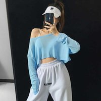Net red loose quick drying sports T-shirt women's running fitness light top yoga clothes long sleeve blouse shows thin and sunscreen